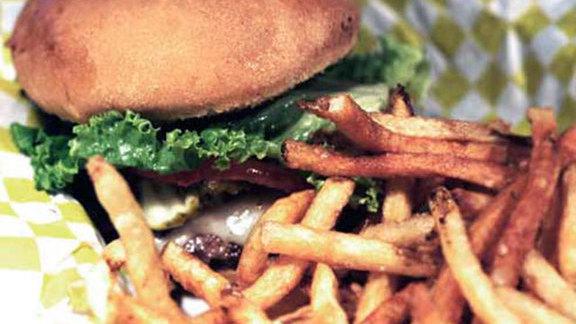 Single beef burger at Tru Burger