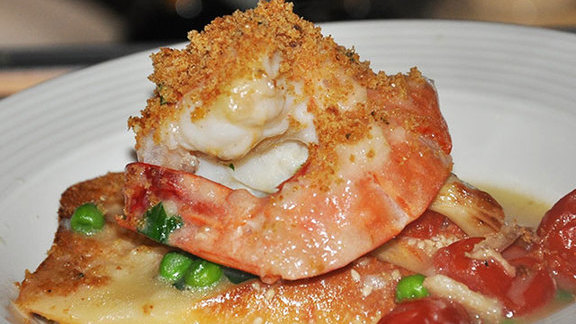 Shrimp scampi bread at Cafe Martorano's