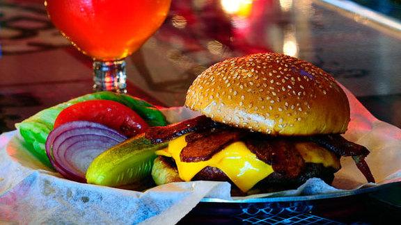Thunder Road burger at Burger & Beer Joint