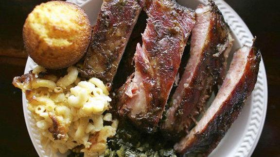 Baby back ribs at Tom Jenkins BBQ