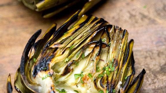 Grilled artichokes at Hillstone Restaurant