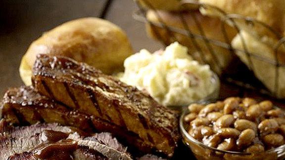 Pork ribs at The Original Sonny Bryan's Smokehouse