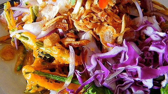 Crispy Morning Glory salad at Jitlada Thai Restaurant