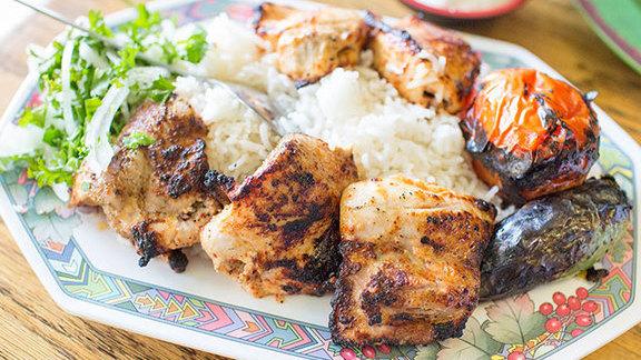Chicken kabob at Mini Kabob