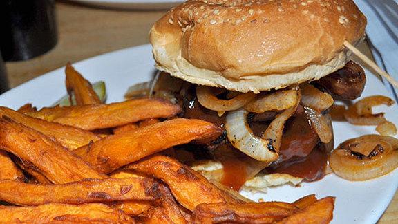 The Jersey Shore burger at Mr. Bartley's Burger Cottage