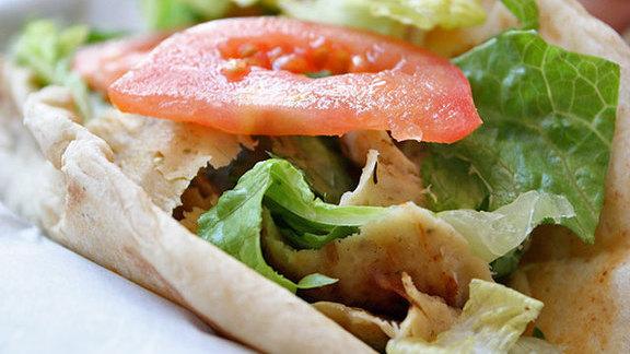 Mediterranean chicken pita at Pita Paradise