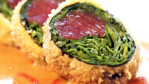 Panko crusted ahi sashimi sushi roll at Sansei Seafood Restaurant & Sushi Bar