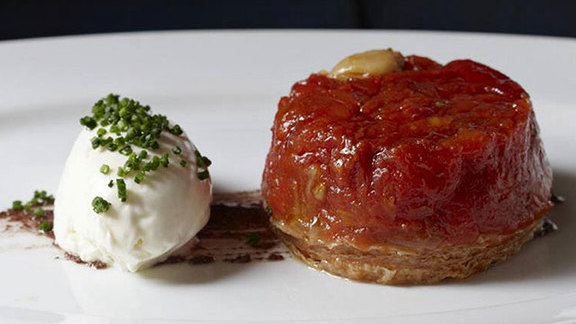 Tomato tarte tatin at FIG