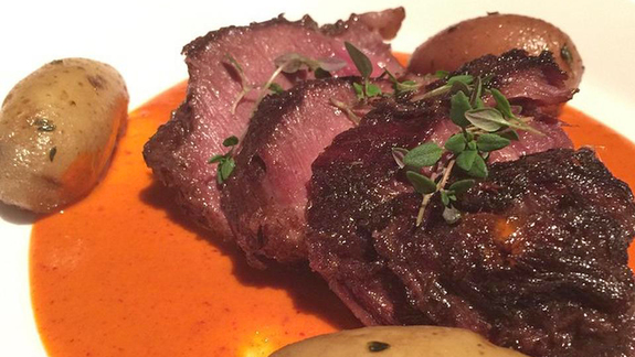 Braised wagyu beef cheeks at The Bazaar by José Andrés