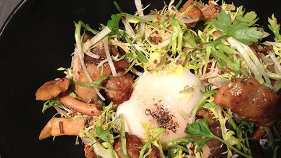 Sous-vide organic egg  at Nine-Ten Restaurant and Bar