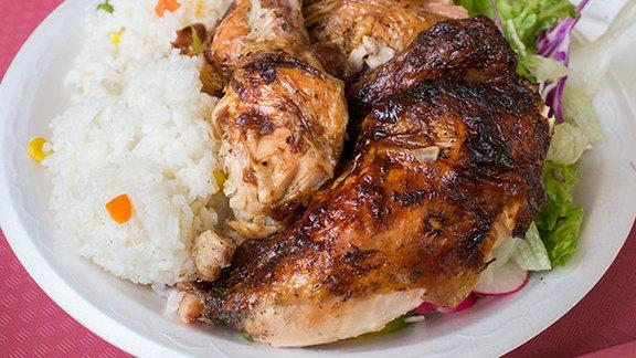 Rotisserie chicken at El Pollo A La Brasa