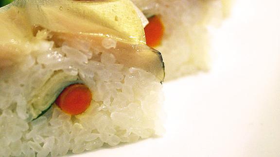 Oshi-zushi at Cafe Sushi