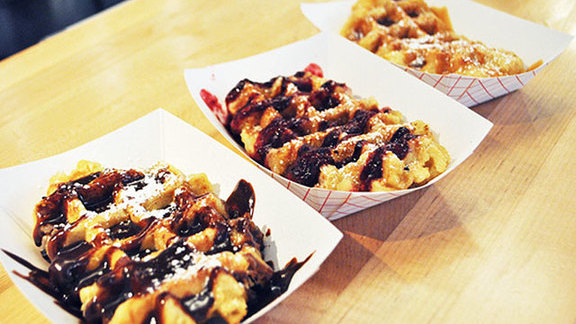 Liege waffle at Saus Restaurant