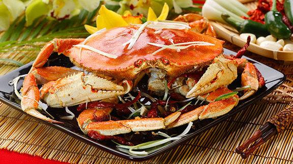 Dungeness crab w/ ginger & green onion sauce at Kirin Seafood Restaurant
