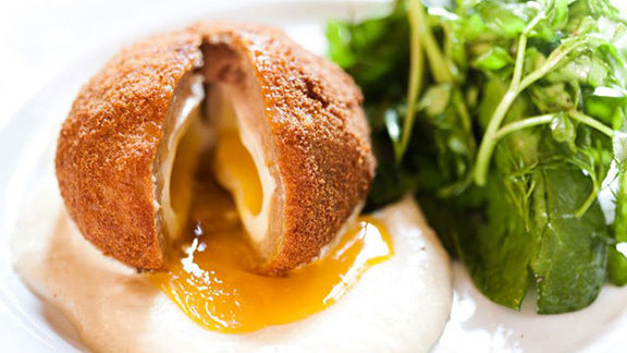 Scotch egg at Dominion Square Tavern