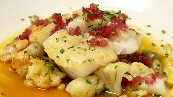 Chef Frank McClelland reviews Seared Gulf of Maine hake at Bergamot