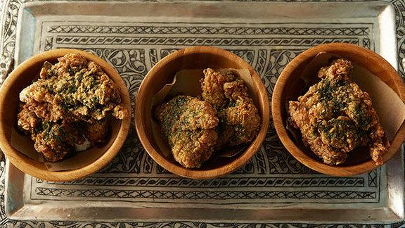 Sesame fried chicken at Sarma