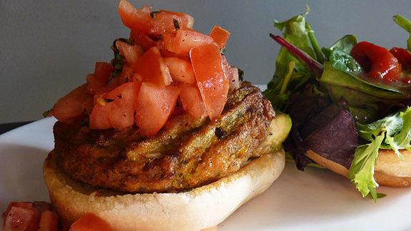 Veggie burger at Boston Burger Company