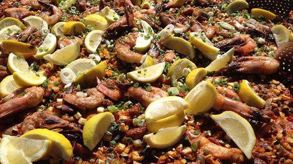 Seafood paella at Zuzu