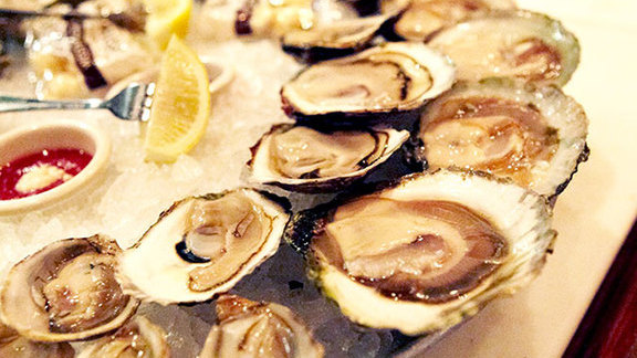 Oysters on the half shell at Old Ebbitt Grill