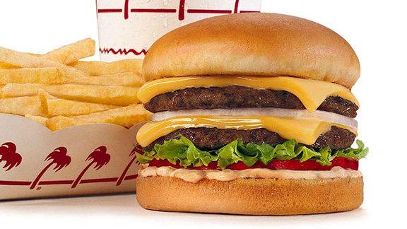Burger at In-N-Out Burger