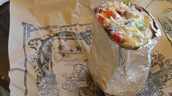 Vegetarian burrito at Illegal Pete's