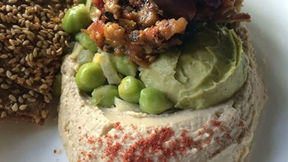 Seven layer hummus at Sarma