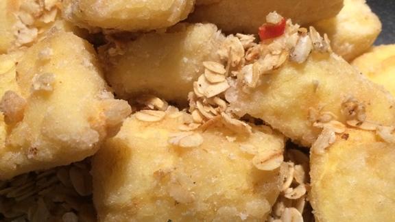 Deep Fried Tofu with Oats at Kwan Dim Sum
