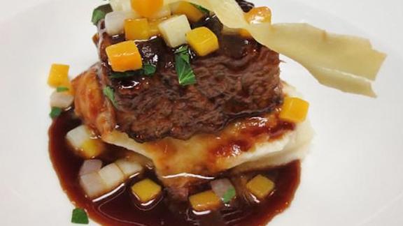 Braised short rib at Aria Restaurant