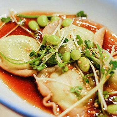 Edamame dumplings at True Food Kitchen