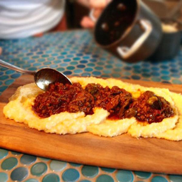 Polenta Board Cucina Enoteca Newport Beach Chefsfeed