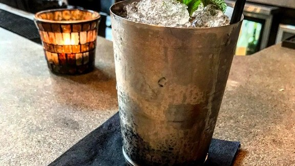 Derby-certified mint juleps at The Market Place Restaurant