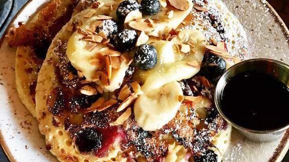 Blueberry banana pancakes at Bankers Hill Bar & Restaurant