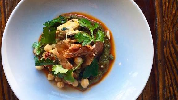 Chef Tamara Murphy reviews Smoked mussels, eggplant, and Lomo Ibérico from Spain.  at Terra Plata