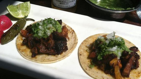 Tacos al pastor at Don Pisto's