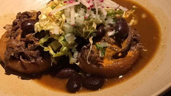Chef Kyle Itani reviews Birria Sopes at
