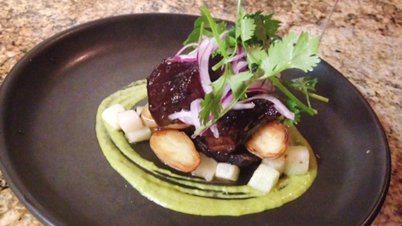 Chef Adam Timney reviews Braised tongue at
