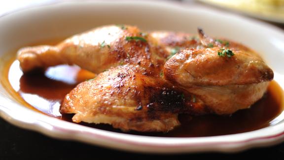 Chef Robert Irvine reviews Half roast chicken at