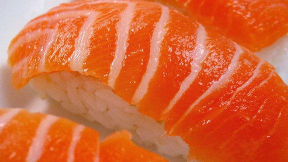 Salmon nigiri at Sushi Ohana