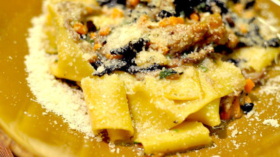 Pappardelle with wild boar at Giulia
