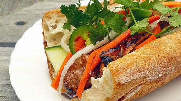 Grilled pork bánh mì at Ba Le Bakery
