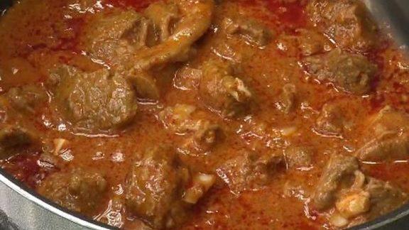 Lamb vindaloo at New Delhi Indian Restaurant
