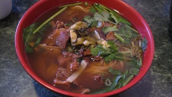 Oxtail noodle soup at Nan Zhou Hand Drawn Noodle House