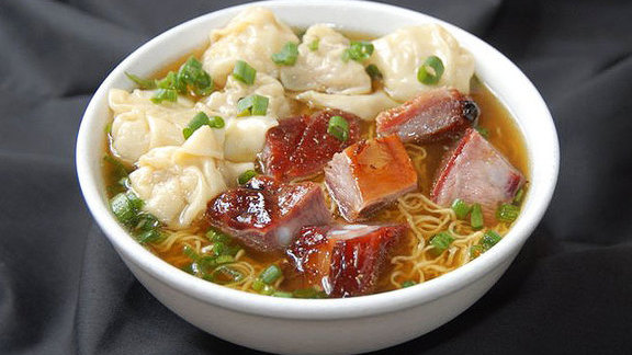 Roasted pork wonton noodle soup at Sang Kee Peking Duck House