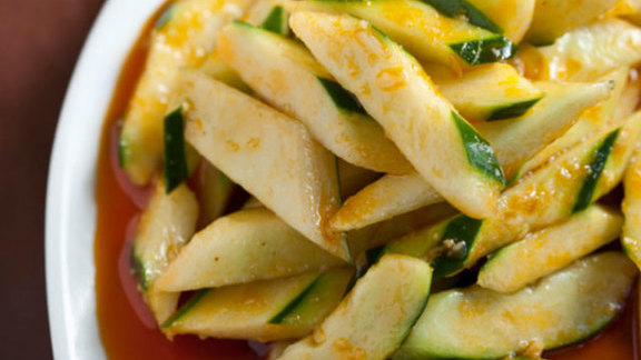 Spicy crispy cucumber at Han Dynasty