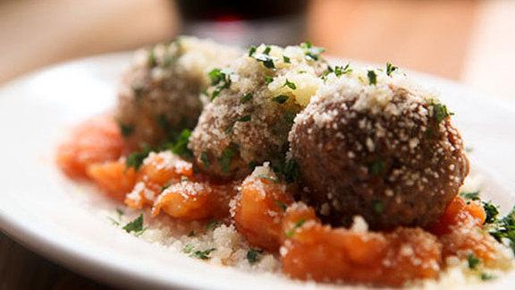 Swordfish meatballs at Amis Trattoria