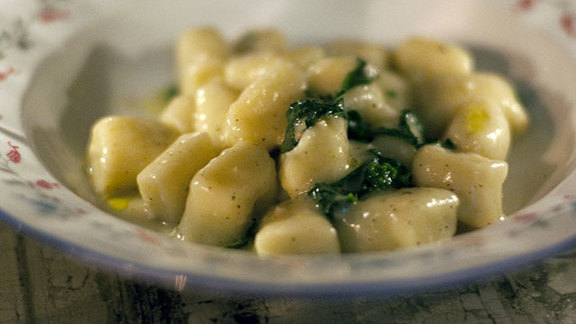 Smoked potato gnocchi with Taleggio and rapini at Local Kitchen & Wine Bar