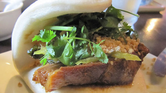 Chef Seth Caswell reviews Taiwanese pork bun at