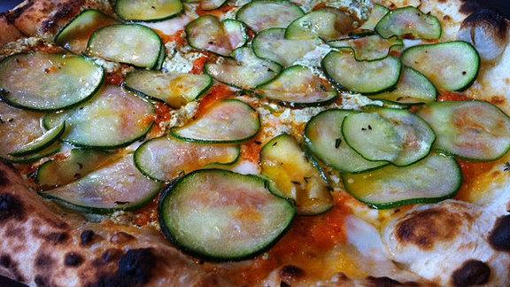 Zucchini pizza at Pizzeria Stella