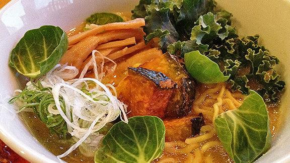 Vegetable ramen & kale at Chuko